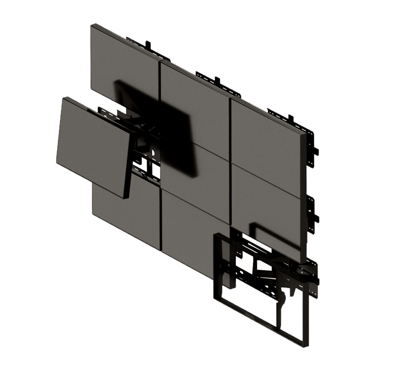 """LCD панель 65"""" (16:9) для видеоэкрана/ рамка 8мм"""