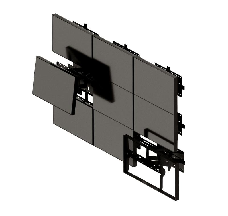 "ЖК панель 49"" (16:9) для видеоэкрана / рамка 1.7мм"