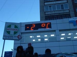 Светодиодное табло время температура