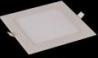 Ультратонкая светодиодная панель  квадратная, белый корпус, размер 120 х 120мм