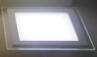 Ультратонкая светодиодная панель со стеклянной окантовкой квадратная, белый корпус, Размер 225 х 225мм