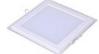 Ультратонкая светодиодная панель со стеклянной окантовкой квадратная, белый корпус, Размер 120 х 120мм