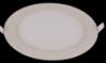 Ультратонкая светодиодная панель круглая, белый корпус, внешний диаметр 120мм