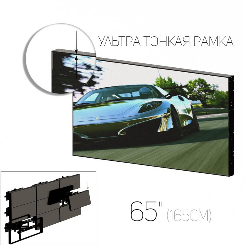 """LCD панель нового поколения 65"""" (16:9) для видеостен / рамка 8мм"""
