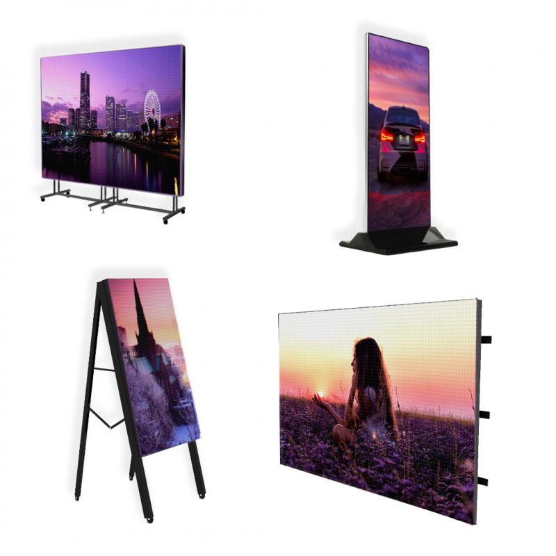 Светодиодный уличный рекламный экран 6 х 4 м P10