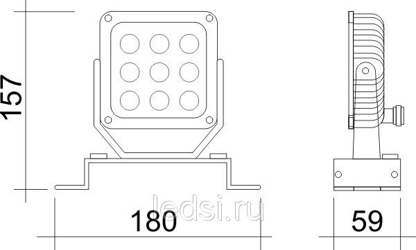 Светодиодный прожектор VR 100