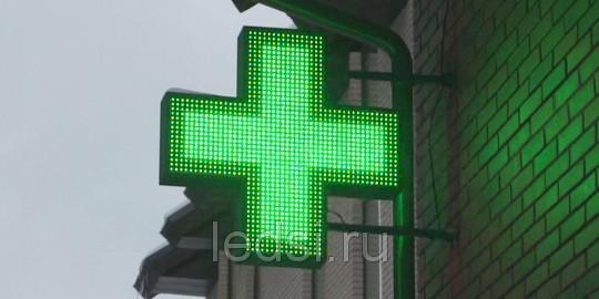 Светодиодный крест зеленый