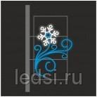 Световой кронштейн «Снежинка (меняется на лотос)»