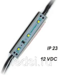 Невлагозащищенный светодиодный модуль BV-KCN-1*3-CW-C