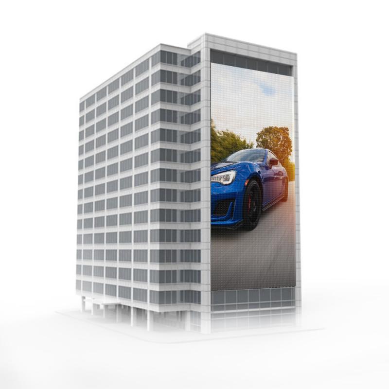 Вертикальный светодиодный уличный экран