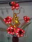 Светодиодное дерево 'RoseGold' 80 см