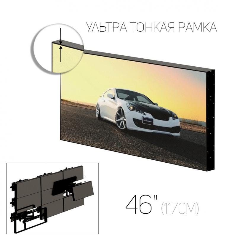 """Видеостена нового поколения 46"""" (16:9) / рамка 3.5 мм"""