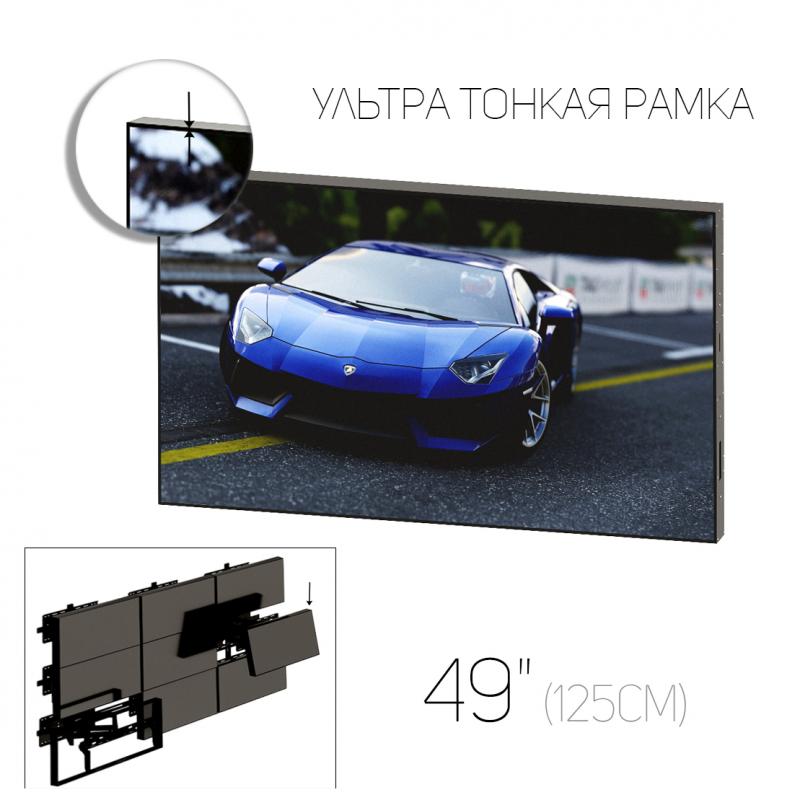 """Видеостена нового поколения 49"""" (16:9) / рамка 3.5 мм"""