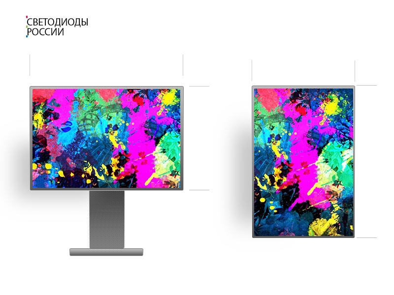 Led экран для помещения 3*1 м