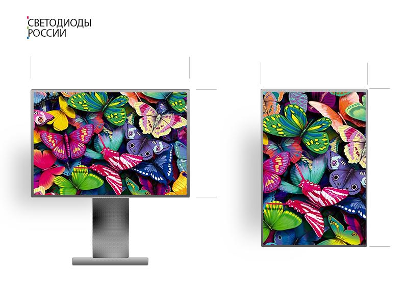 Led экран для помещения 1*1 м