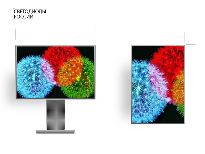 Led экран 4 * 3 м
