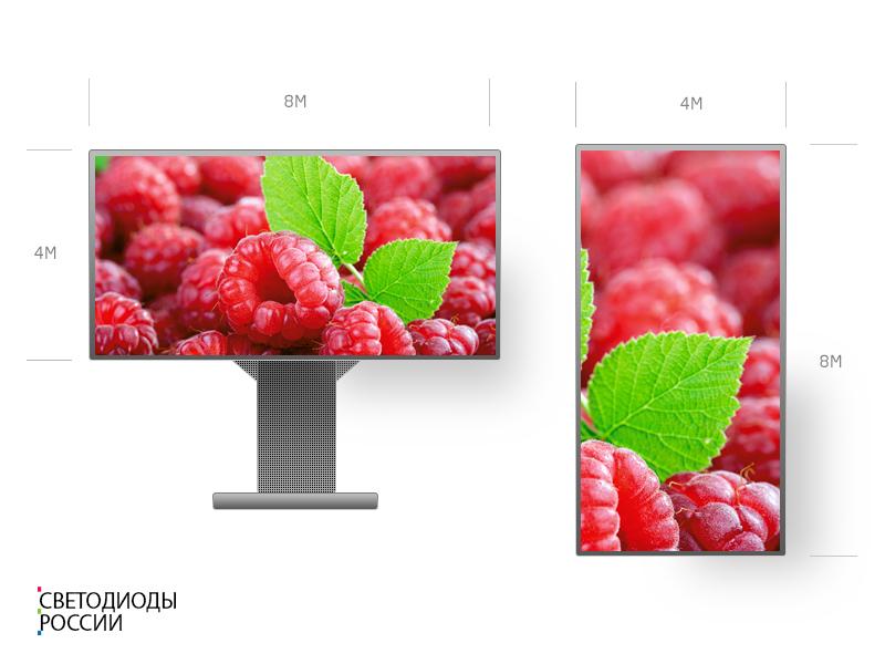 Светодиодный экран  8 х 4 м P10