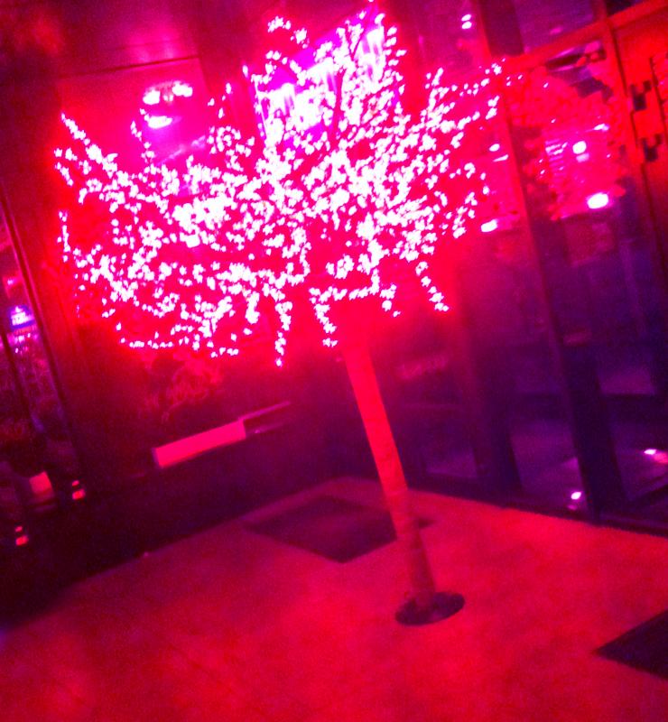 Светодиодное световое дерево розовое 'Сакура', 1728