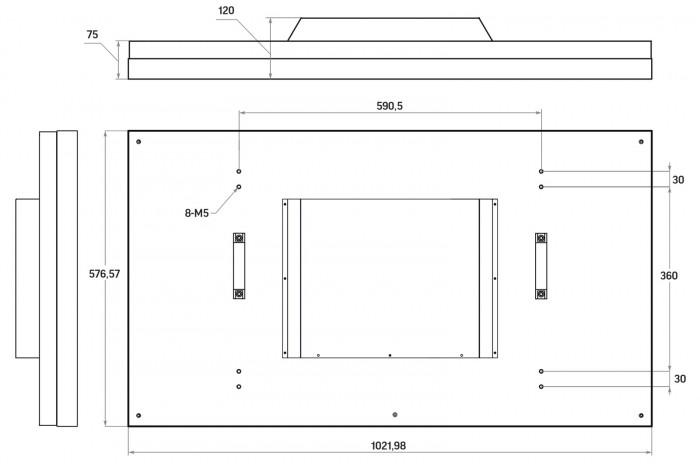 """LCD панель нового поколения 46"""" (16:9) для видеостен / рамка 8мм"""