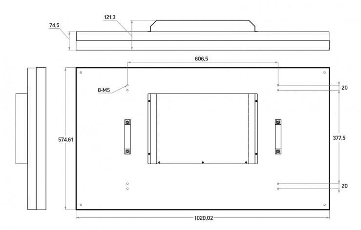 """LCD панель нового поколения 46"""" (16:9) для видеостен / рамка 1.8мм"""