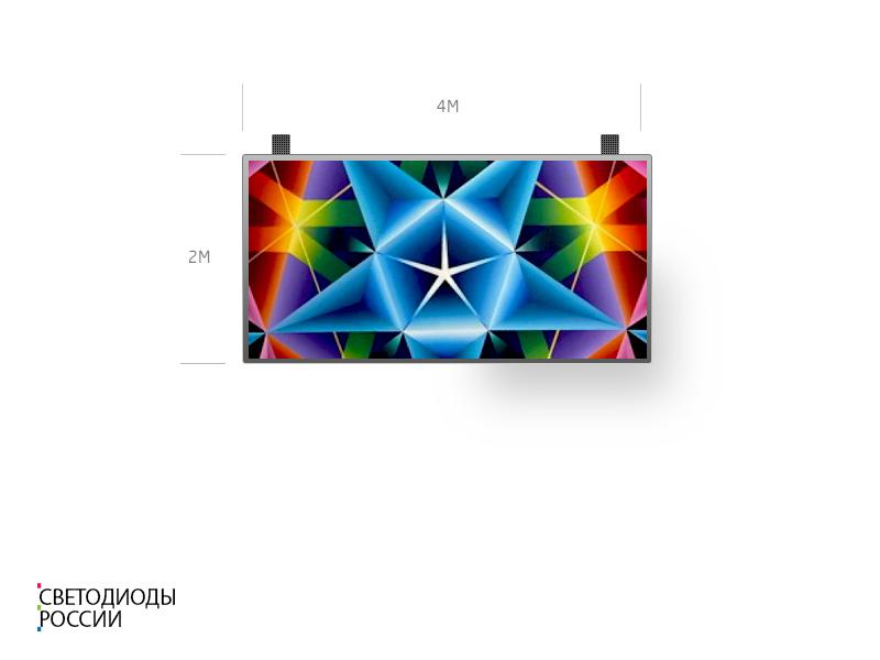 Светодиодный экран для помещения 4*2 м