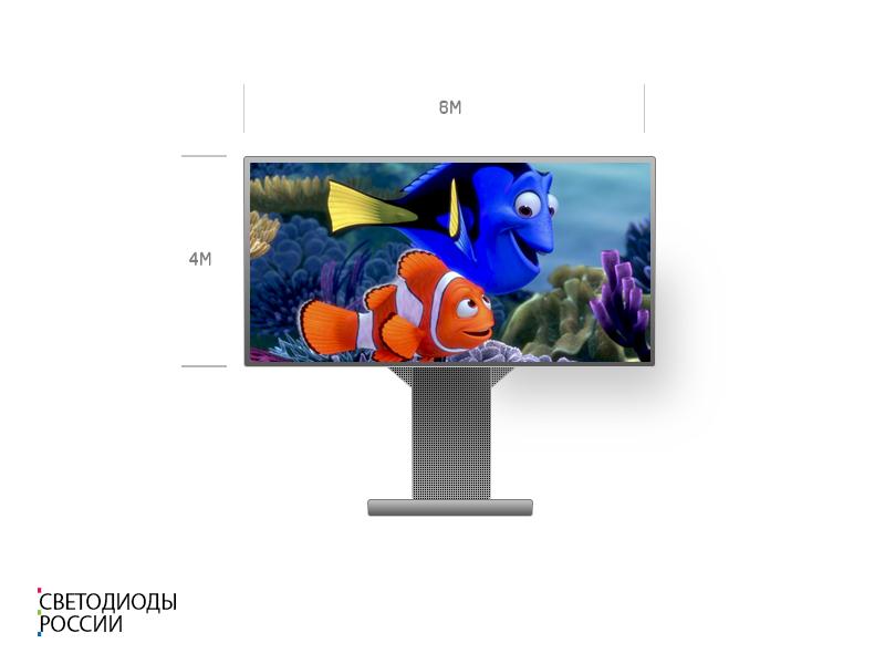 Светодиодный экран для улицы 6*4 м