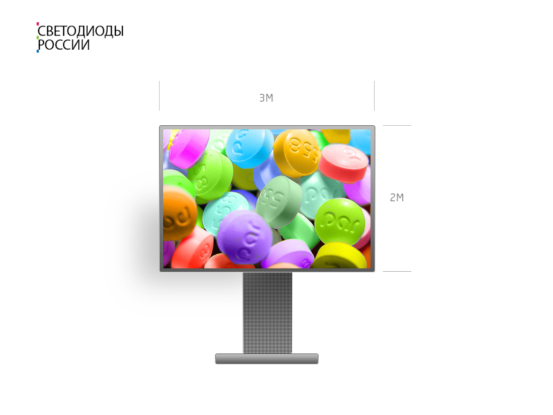 Светодиодный экран для улицы 3*2 м