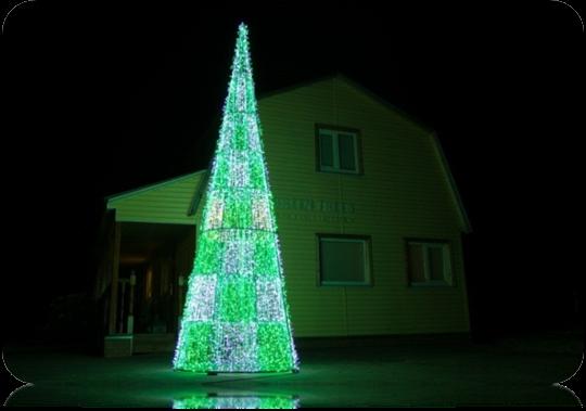 Световая ёлка. Высота 8м, Диаметр 2,4м
