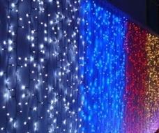 Занавес 320 LED, Красный, 3*2м