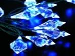 """Гирлянда интерьерная """"Светодиодные алмазы"""", 7 метров: синяя"""