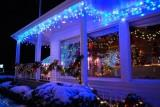 Бахрома для улицы, 100 LED, Синий,  3м