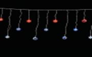 """Занавес на светодиодах с акриловыми насадками """"Новогодний"""" для помещений, 6.3 х 0.5 метра"""