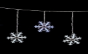 "Светодиодная бахрома ""Снежинка"", 2.5 х 0.5/0.3 метра (белый, синий)"