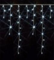 Светодиодная мерцающая бахрома 4,8 х 0,6 метра, (сине-бело-красная, бело-синяя)