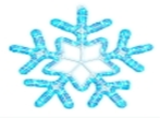 "Светодиодный мотив ""Снежинка"" 61 х 50 см, 220 Вольт. Neo-Neon"
