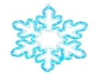 "Светодиодная мотив  ""Снежинка""  61 х 51 см, 220 Вольт. Neo-Neon"