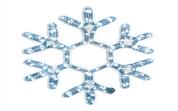 """Светодиодная мотив  """"Флэш снежинка"""" 75 х 69 см, каждый 5-й светодиод - мерцающий, 220 Вольт.        Neo-Neon"""