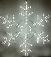 Светодиодная фигура снежинка, 220 вольт, 15 ватт  диаметр 1 метр, цвет белый