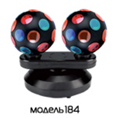 Диско-шар 220V 15W  Funray-184 настольный, 2 лампы