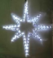 Светодиодная 8-ми конечная звезда, 220 вольт, 15 ватт, высота 1 метр, цвет белый