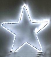 Светодиодная 5-ти конечная звезда, 220 вольт, 10 ватт, высота 1 метр, цвет белый