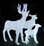 """Световая фигура  """"Семья Бемби"""",  высота 0,98 м"""