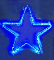 Светодиодная 5-ти конечная звезда, 220 вольт, 10 ватт, высота 0.8 метра, цвет синий