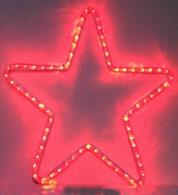 Светодиодная 5-ти конечная звезда, 220 вольт, 6 ватт, высота 0.6 метра, цвет красный