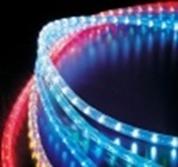 Светодиодный дюралайт 3-жильный, 13 мм,  круглый, 220 Вольт, цвета: желтый, красный