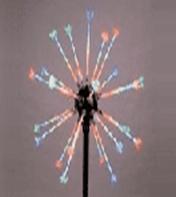 "Светодиодный фейерверк ""Шар"", диаметр 0,8 метра, 24 Вт, с опорой 1 метр"