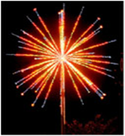"""Светодиодный фейерверк """"Шар"""", диаметр 4 метра, 190 Вт, без опоры"""