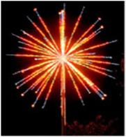 """Светодиодный фейерверк """"Шар"""", диаметр 6 метра, 190 Вт, без опоры"""