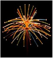 "Светодиодный фейерверк ""Цветок Фу Ронг"", размер 4 х 2,2 метра, 153 Вт, без опоры"