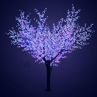 """Светодиодное дерево """"Сакура"""", высота 3.6 метра, диаметр 3 метра, 2688 светодиодов, цвет синий"""